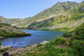 Balea Lake, on the Transfagarasan Road, Sibiu County, Romania